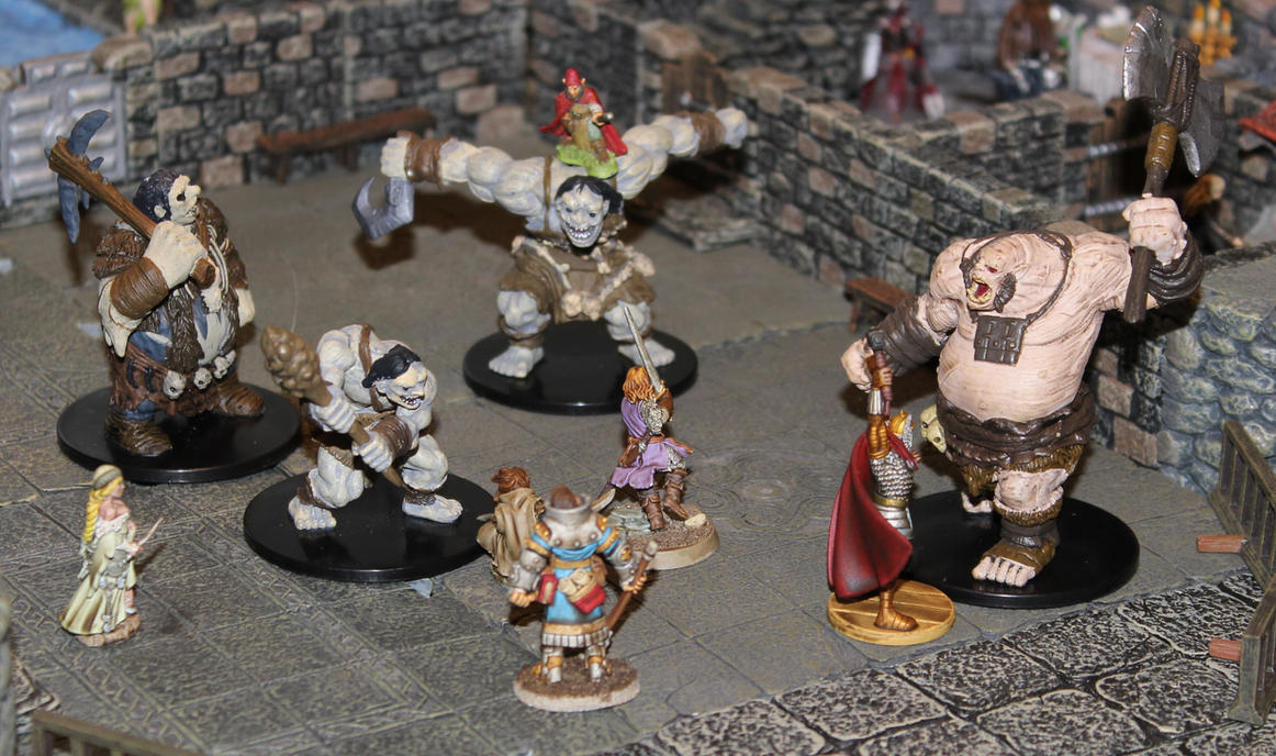 Pathfinder Harrowing Striding Fortress Courtyard by MrVergee