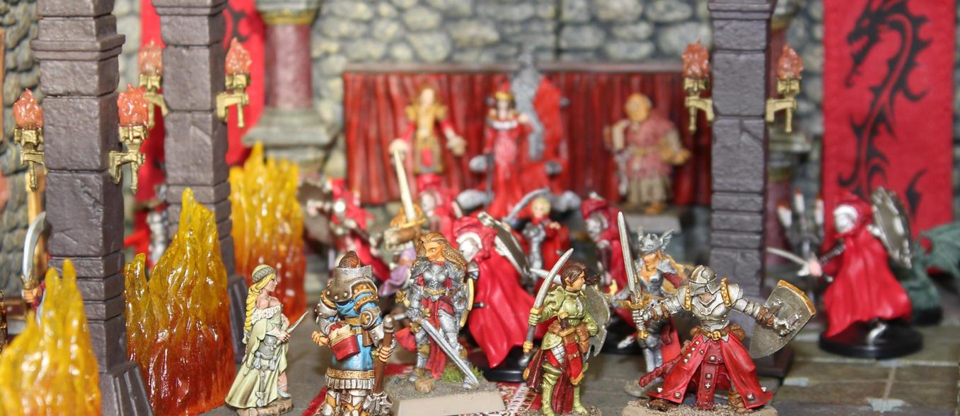 Fighting Ileosa in Castle Korvosa by MrVergee