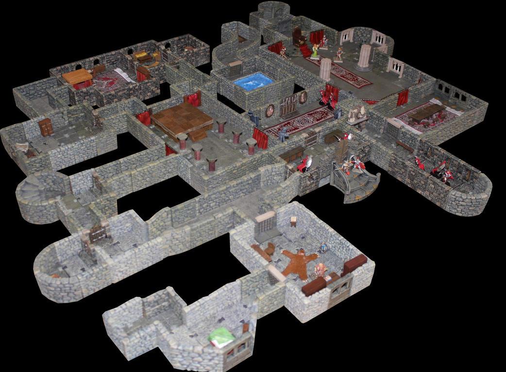 Castle Korvosa Ileosa throne room level 1 by MrVergee
