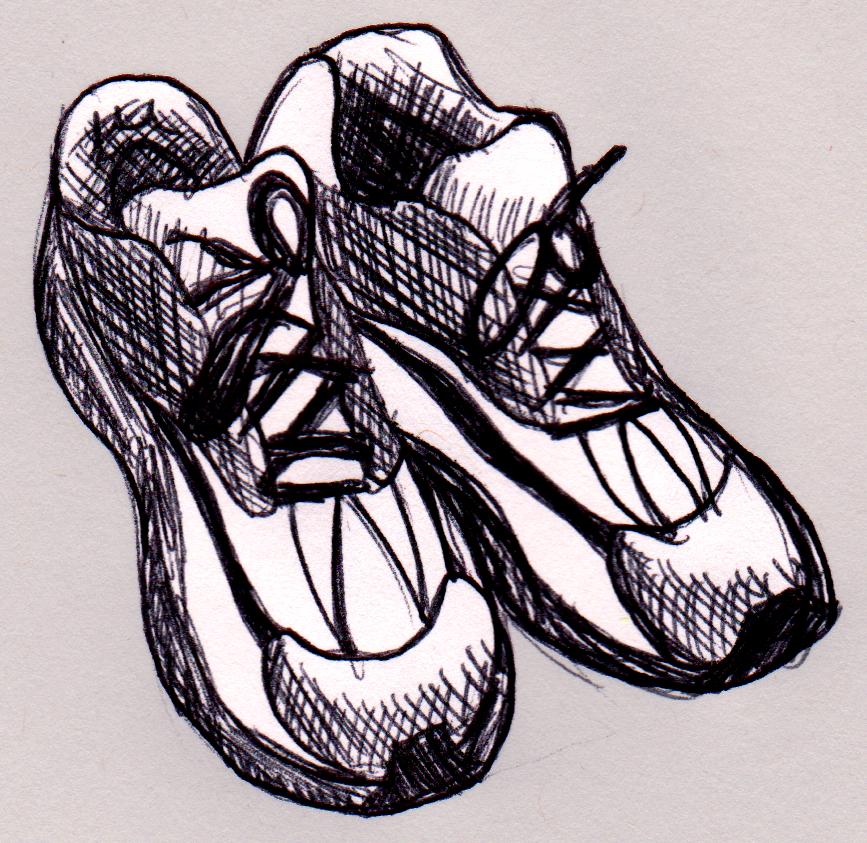 Running Shoes Sketch By Dandantheartman On Deviantart