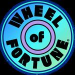 Light Blue Gradient Circular Wheel of Fortune Logo
