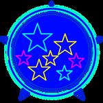 WOF - Blue Starburst Contestant Backdrop