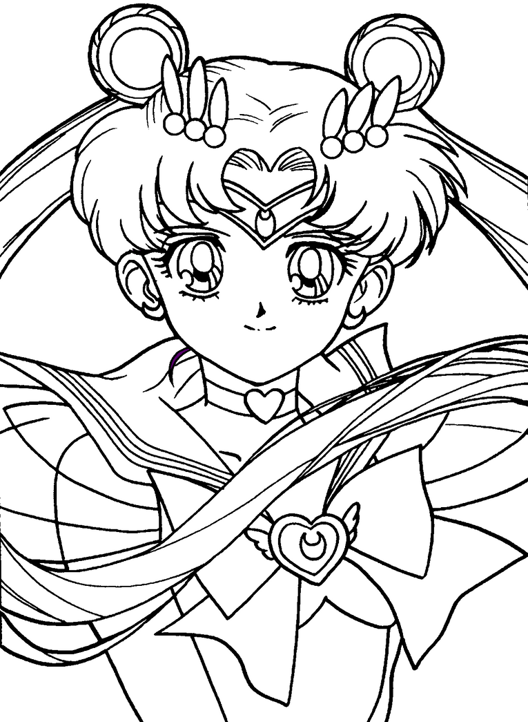 Sailor moon by foxyneko09 on deviantart for Coloring pages sailor moon