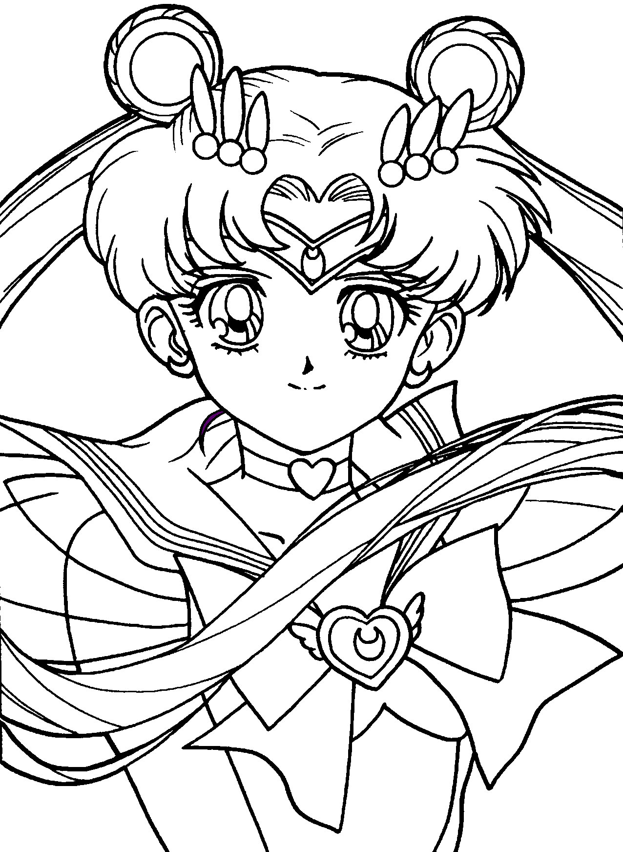 Sailor moon by foxyneko09 on deviantart for Sailor moon group coloring pages