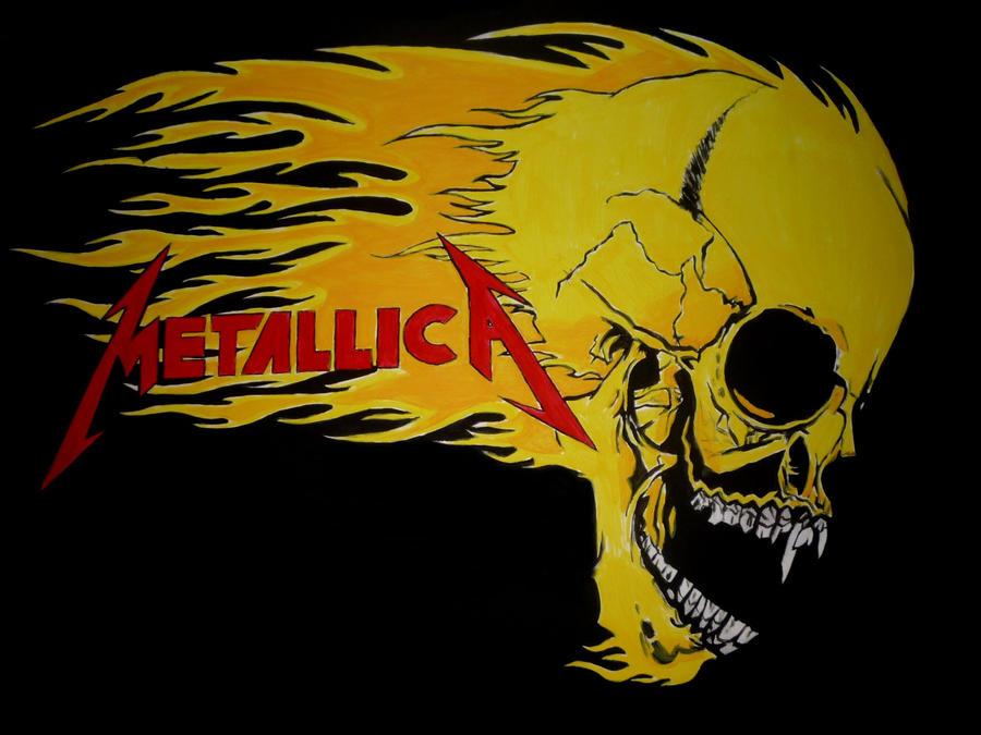 Resultado de imagen de metallica logo skull