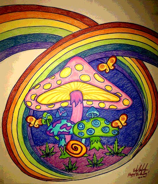 Image Result For Psychedelic Hippie Coloring