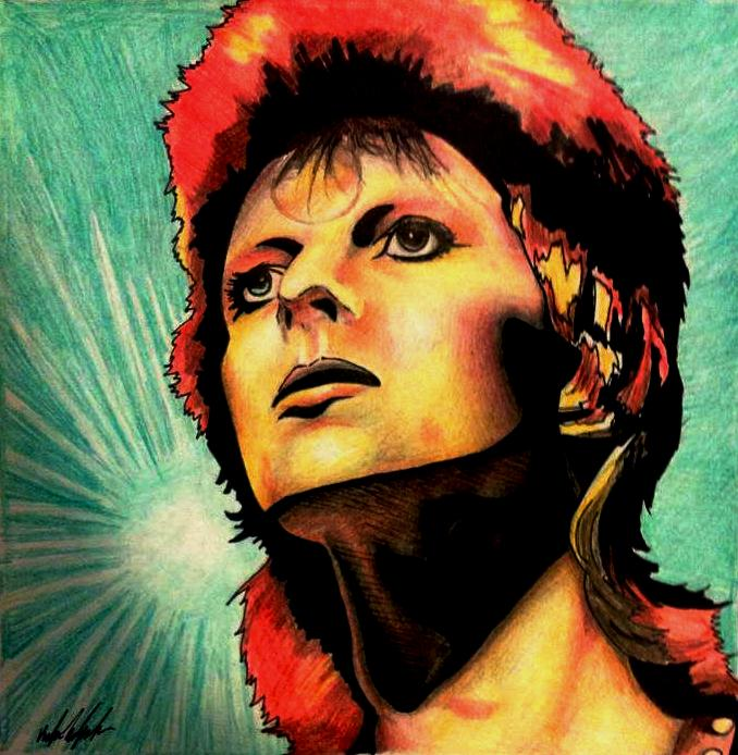 David Bowie by aerokay