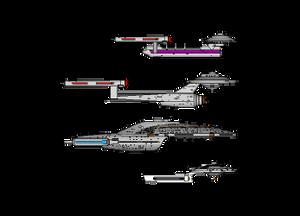 Size chart versus USS Intrepid