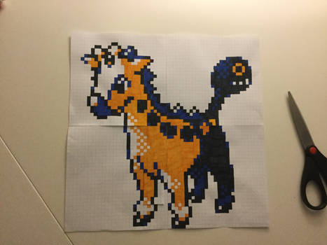 Shiny Girafarig Sprite Pokemon Crystal