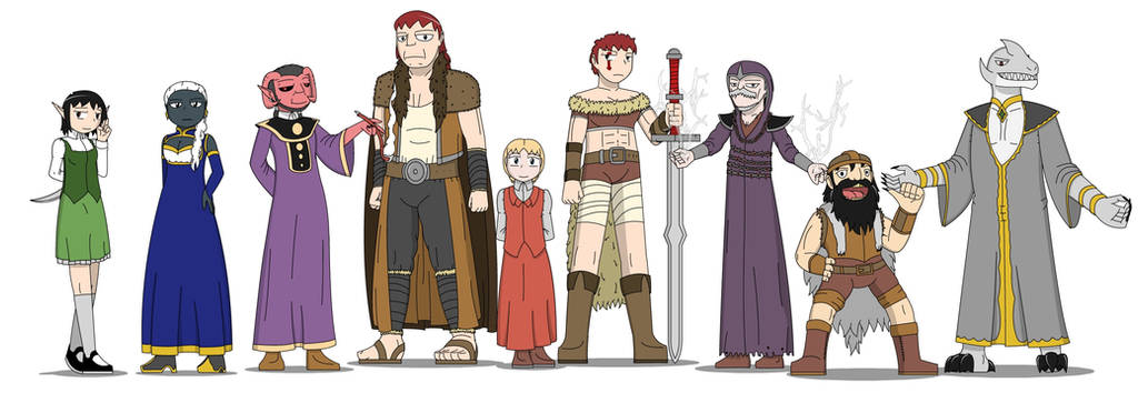 Dungeons and Dragons! The Specter Slayers NPCs 2rd by SoakMonkey