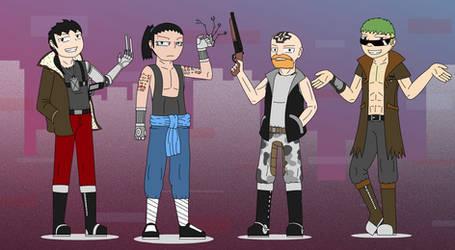 Cyber Punk Team by SoakMonkey