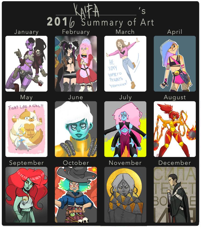 Art Summary 2016 by KaitoEinsam