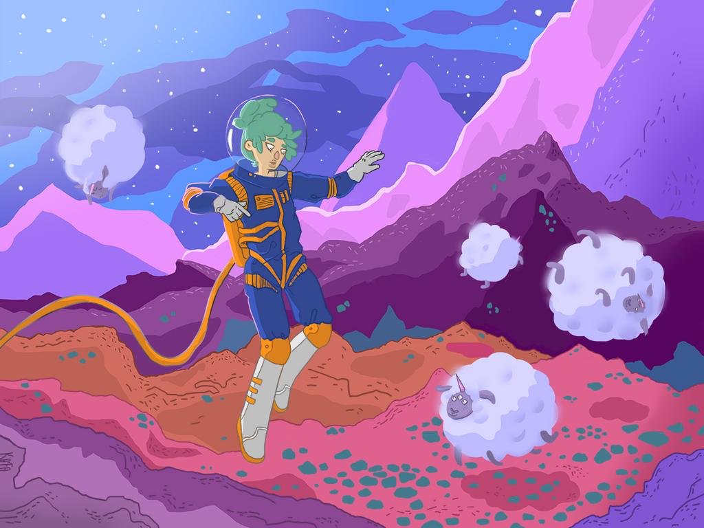 In deep space by KaitoEinsam