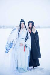 Lan Wangji and Wei Wuxian cosplay