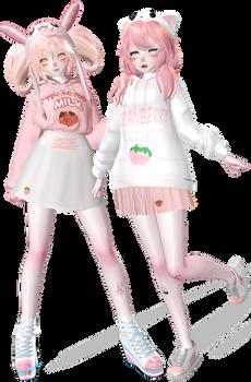 Strawberry Milk \ MMd / Konami X Shiro