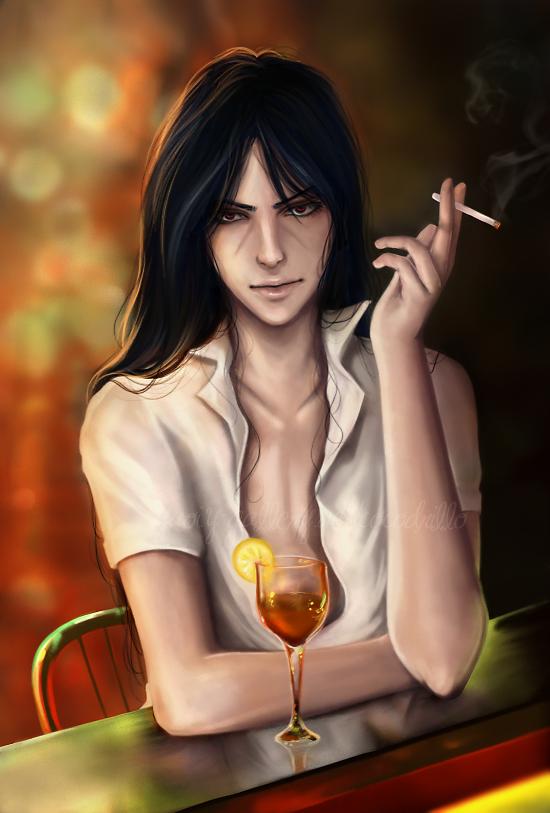 Itachi smoking by Cocodrillo