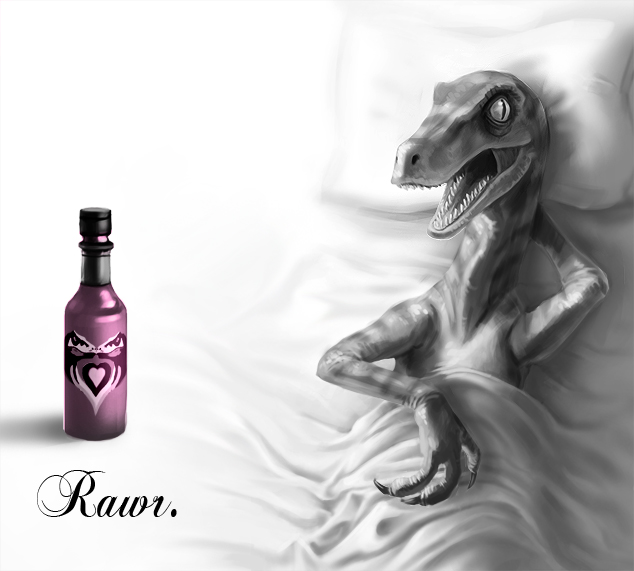 Velociraptor Love Tabasco by mcnostril