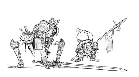 hungry knight and squire