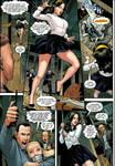 Cheerleader tied up in Paula Peril Comic 2