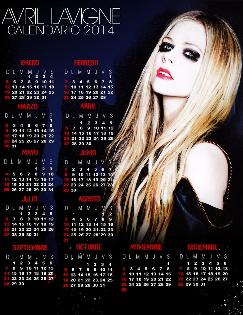 Avril lavigne calendario 2014 by eddblackstar on deviantart avril lavigne calendario 2014 by eddblackstar voltagebd Image collections