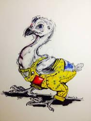 Hairless Joe Chick Illustration Coloration