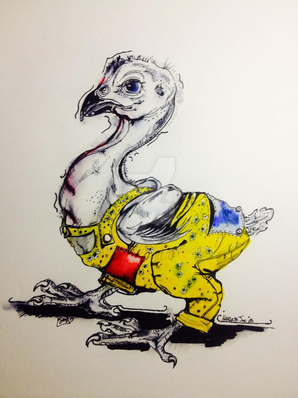 Hairless Joe Chick Illustration Coloration by lamelobo