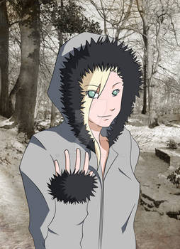 Ino in Kiba's Jacket