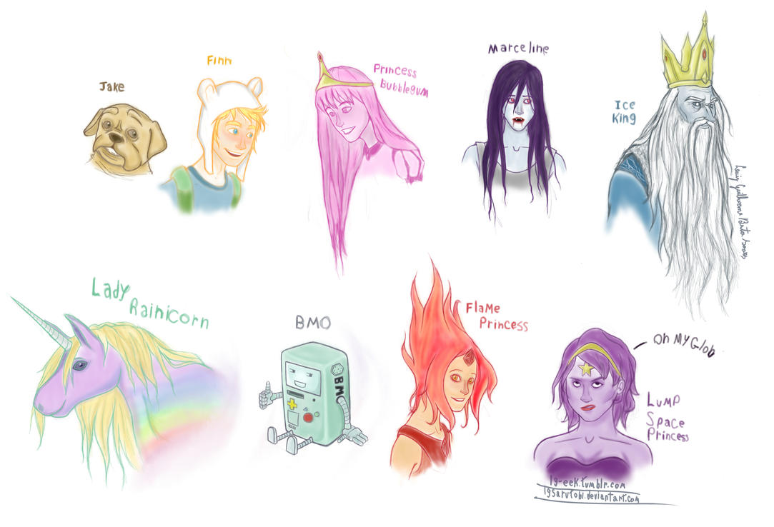 Adventure Time characters 1 by Lgsarutobi