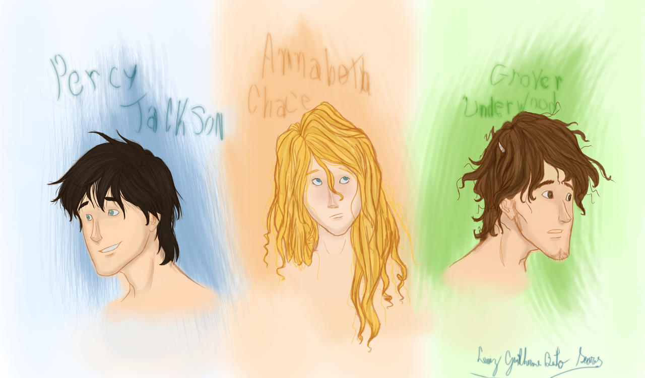 Percy Jackson Annabeth Chase Grover Underwood By
