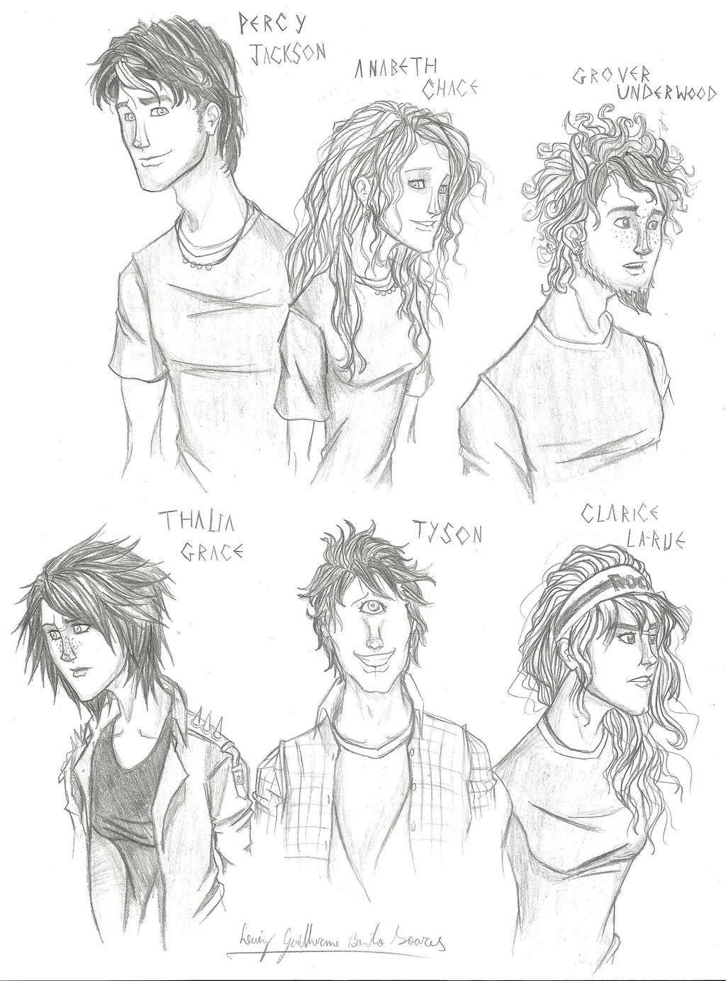 Percy, Annabeth, Grover, Thalia, Tyson, Clarisse by ...