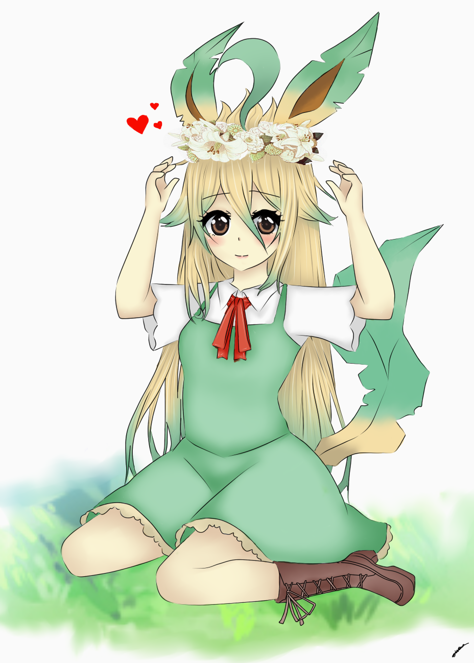 Human Leafeon. by Nirvna-chan on DeviantArt