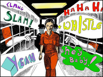 Selina Kyle in jail by TommyMcGann