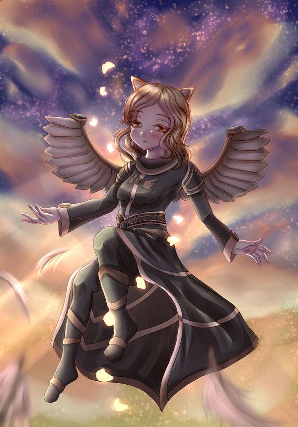 Wizard101: The Angel Flies + SPEEDPAINT by Spark1eFountain