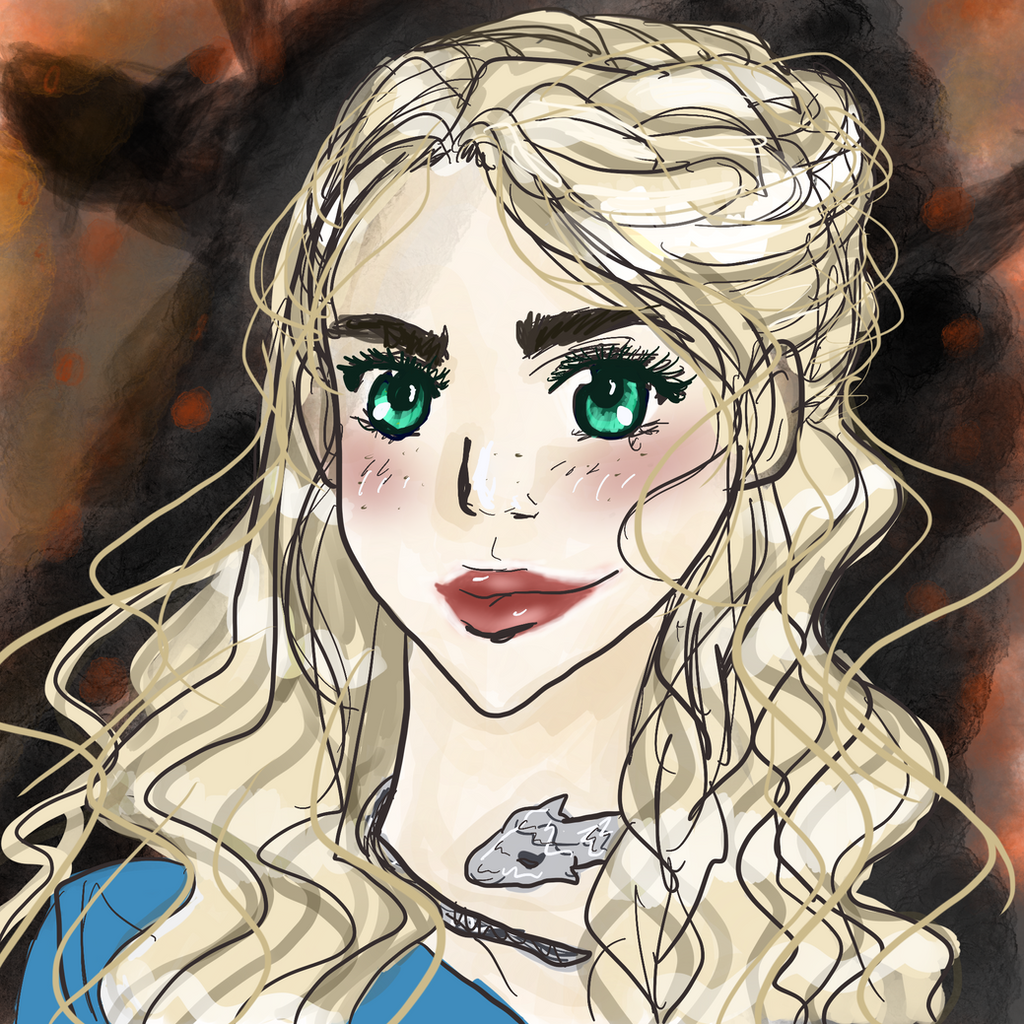 Khaleesi- GOT fan art by tooty-fruity