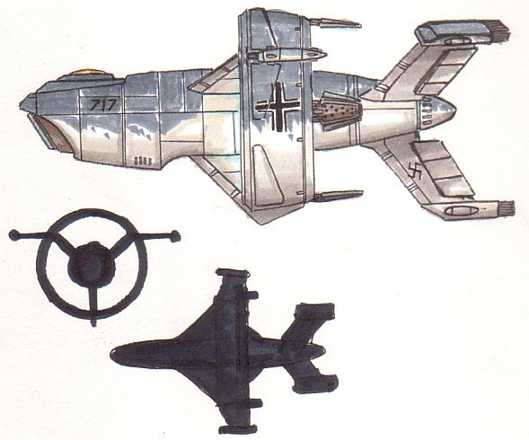 World War II Styled Axis Wespe-Klasse Falke