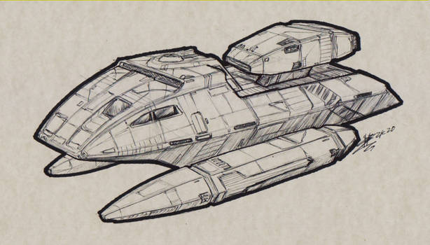 Concept Federation Leo-Class Support Craft 00