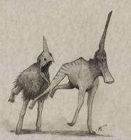 Terravenator monstrum and Anatonathus unicornus 00