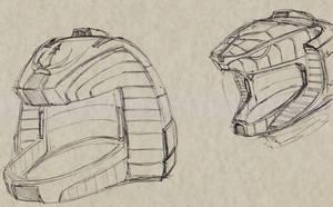 Concept Sketch BSGRedux Colonial Helmets 00
