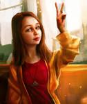 Portraits of my friends #1: Aliya Hairova