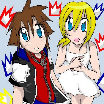 You and Me-Sora and Namine by Destati