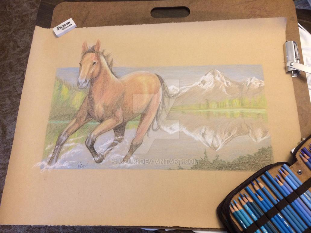 Splashing horse by Uzuri