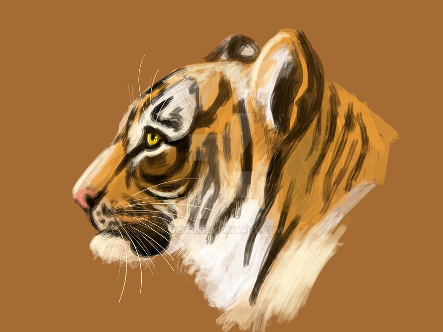 Tiger Speedpaint by Uzuri