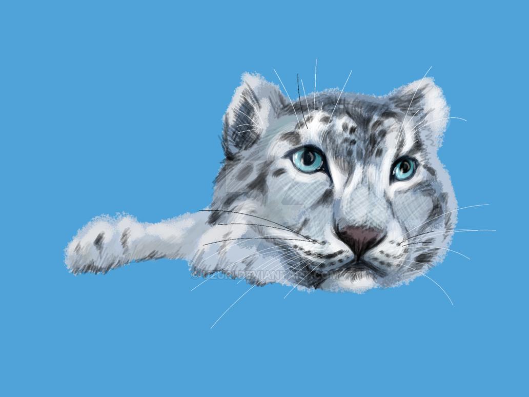 Snow leopard speed paint by Uzuri