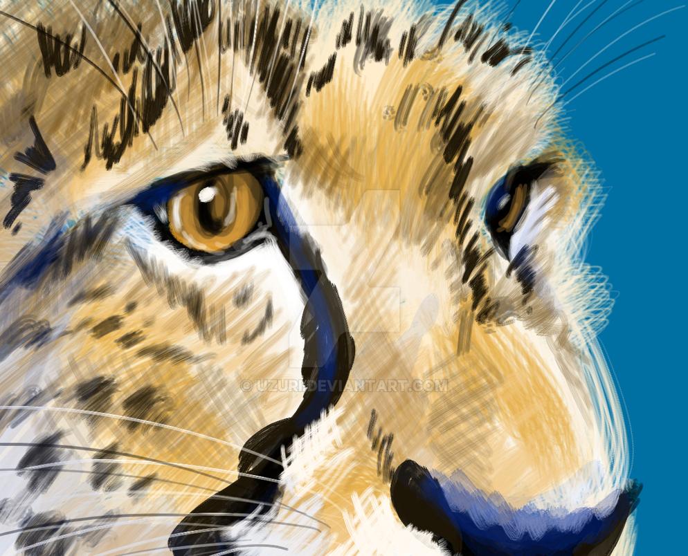 Cheetah detail speedpaint by Uzuri