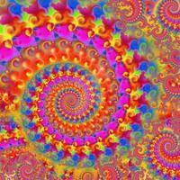 crazy rainbow fractal