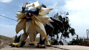 Dusk mane necrozma Pokemon Papercraft