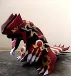 Groudon primigeneo Pokemon Papercraft