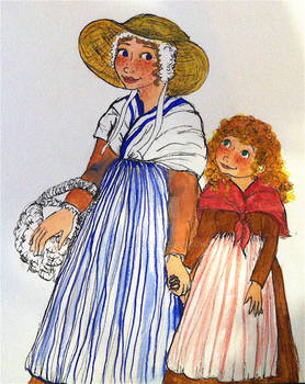 Character design for Perenette and mother