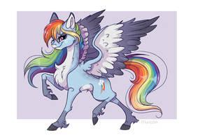 Rainbow Dash redesign by Marbola