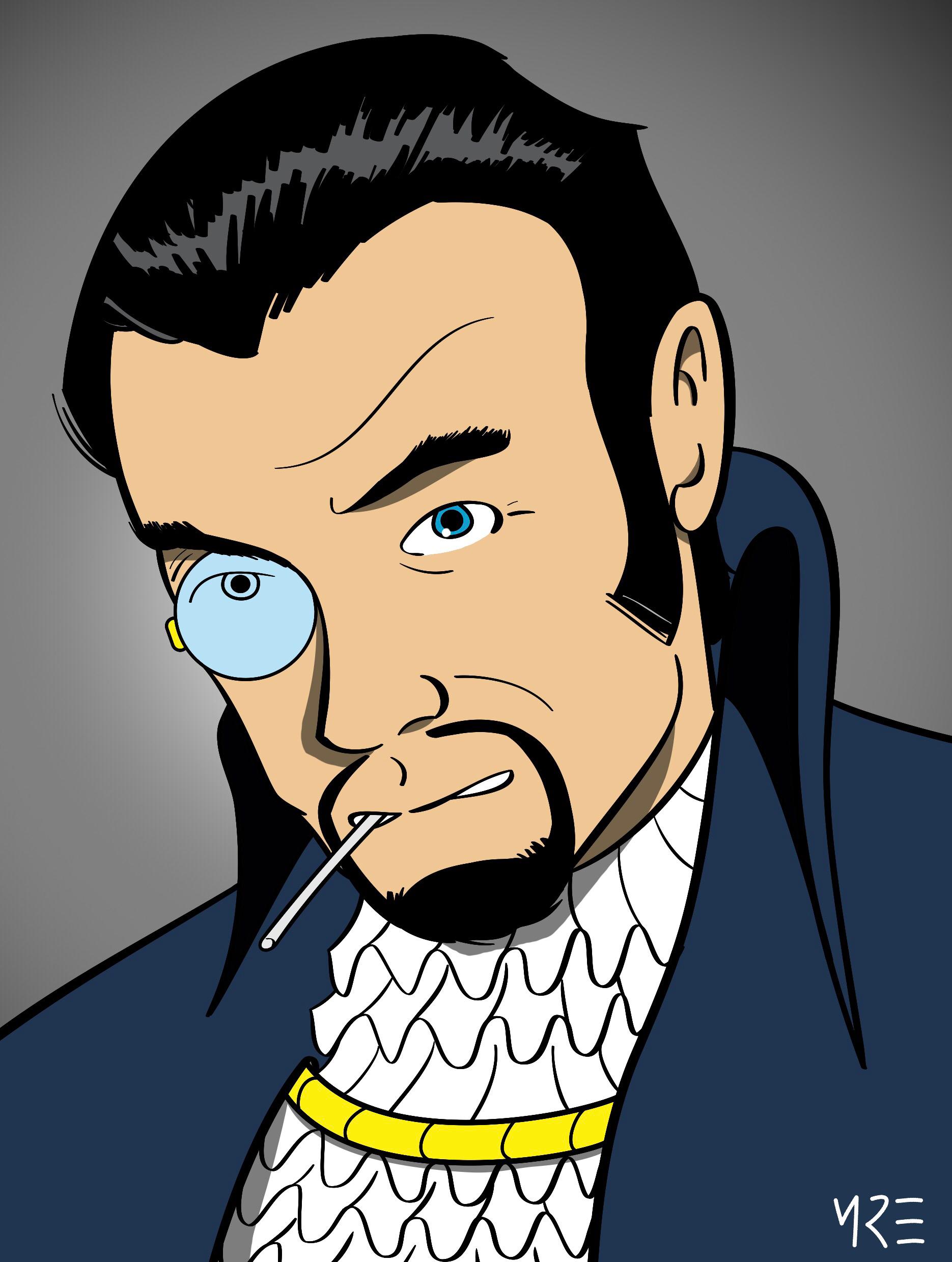 X-Men Portraits - Count Nefaria by MCRE1201